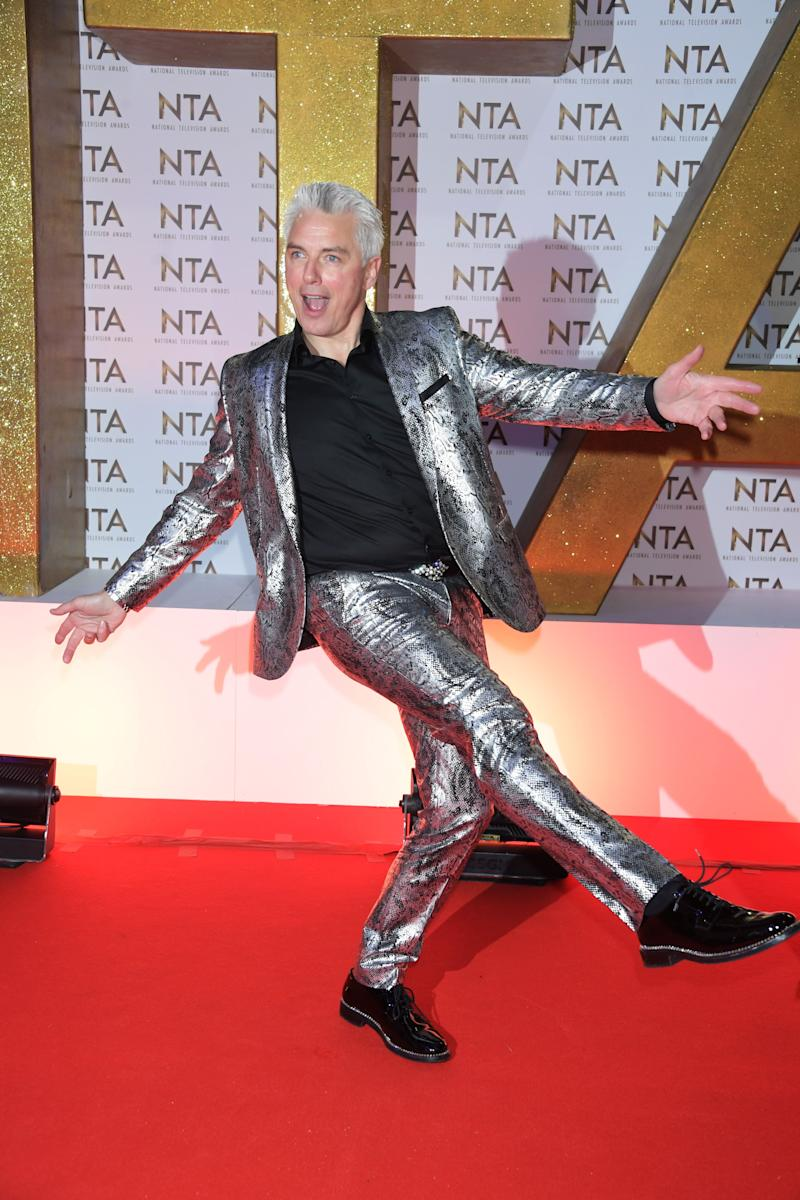 LONDON, ENGLAND - JANUARY 28: John Barrowman attends the National Television Awards 2020 at The O2 Arena on January 28, 2020 in London, England. (Photo by David M. Benett/Dave Benett/Getty Images)