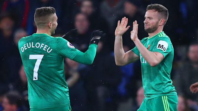 Tom Cleverley's first goal for over a year gave Watford an away victory over Crystal Palace, who had been in front at half-time.