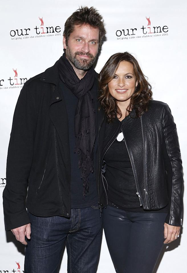 NEW YORK, NY - OCTOBER 22: Peter Hermann and  Mariska Hargitay attend Paul Rudd's All Star Bowling Benefit Supporting Our Time at Lucky Strike on October 22, 2012 in New York City.  (Photo by John Lamparski/WireImage)