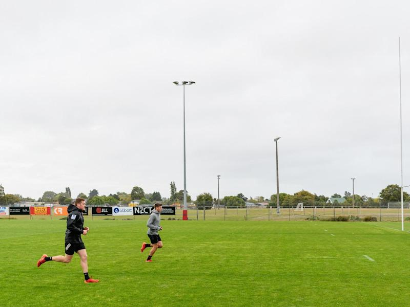 Canterbury Crusaders during training on 21 March in Christchurch: Getty