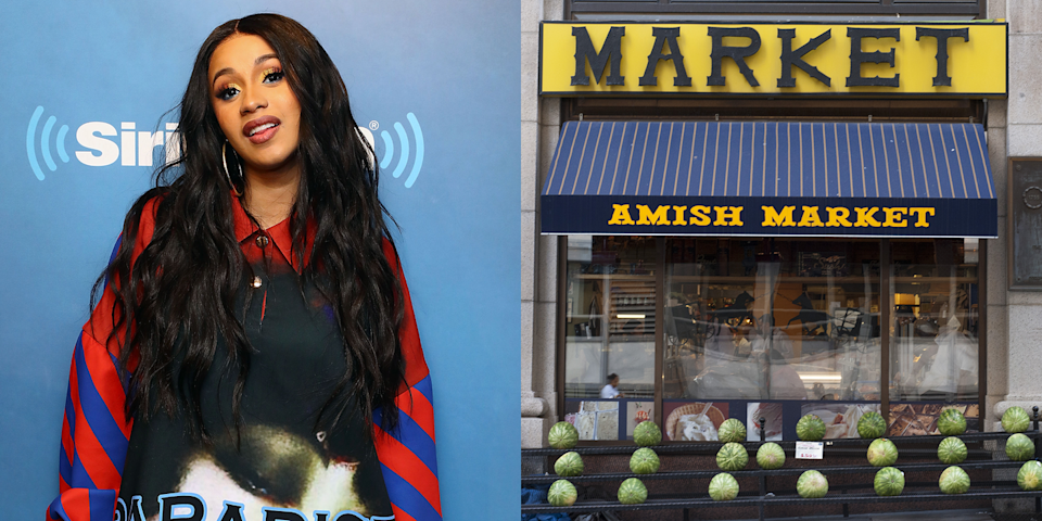 """<p>Before she started stripping, Cardi B <a href=""""http://www.thefader.com/2016/02/29/cardi-b-interview"""" rel=""""nofollow noopener"""" target=""""_blank"""" data-ylk=""""slk:worked as a full-time cashier"""" class=""""link rapid-noclick-resp"""">worked as a full-time cashier</a> at the Amish Market in NYC's Tribeca neighborhood. She was fired after giving a coworker a discount on a purchase, and went to check out the strip club across the street after a manager told her she had a nice body. </p>"""