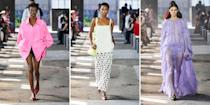 <p>Milan is the city of elegance, where sumptuous materials and pristine tailoring are front and center. And for the spring 2021 season, the city's designers showed ample amounts of both. See the five best looks from each collection. <br></p>