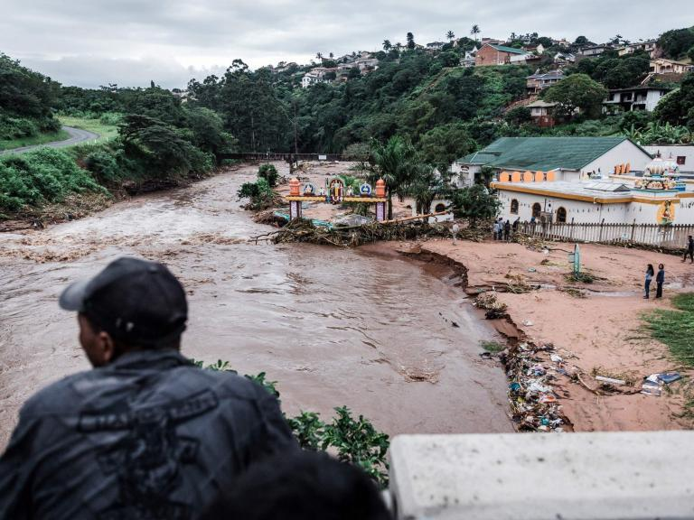 South Africa floods: At least 50 killed after torrential rains sweep through coastal regions