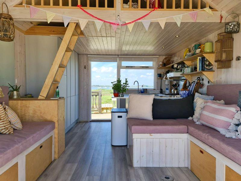 The sleek hut has all the mod cons, but doesn't have a toilet. (SWNS)