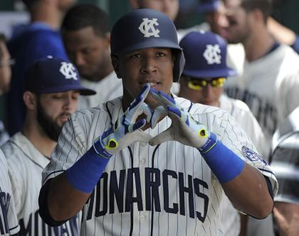 Salvador Perez is perhaps the best value in baseball. (Getty)