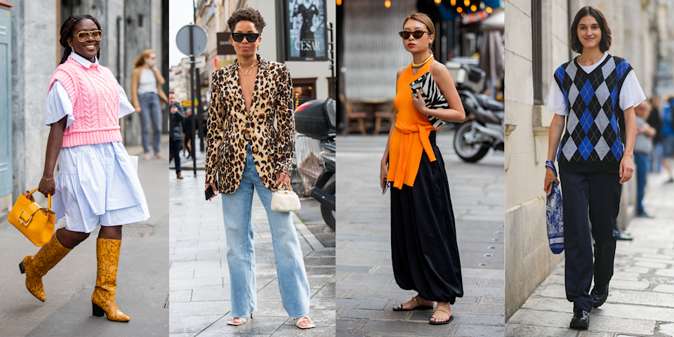 """<p>Finding summer work outfits that are equal parts professional, stylish and weather-appropriate can feel like a near impossible mission at the best of times. But, after a year plus of <a href=""""https://www.cosmopolitan.com/uk/worklife/careers/g32301190/work-from-home-tips/"""" rel=""""nofollow noopener"""" target=""""_blank"""" data-ylk=""""slk:working from home"""" class=""""link rapid-noclick-resp"""">working from home</a> - in the comfort of leggings and loungewear, no less - the prospect of returning to the office and deciding <a href=""""https://www.cosmopolitan.com/uk/fashion/"""" rel=""""nofollow noopener"""" target=""""_blank"""" data-ylk=""""slk:what to wear"""" class=""""link rapid-noclick-resp"""">what to wear</a> when you're there might seem even more overwhelming than ever. Don't panic though, we've got you covered on the fashion front. </p><p>Yep, we've rounded up a slew of all-rounder outfit ideas to screenshot and copy when you're looking for a little bit of work outfit inspo. Of course, what you wear to work depends on <a href=""""https://www.cosmopolitan.com/uk/worklife/careers/a34375863/4-steps-to-finding-purpose-at-work/"""" rel=""""nofollow noopener"""" target=""""_blank"""" data-ylk=""""slk:where you work"""" class=""""link rapid-noclick-resp"""">where you work</a>, so we've thrown in a range of formalities ranging from business-y office settings to more relaxed creative <a href=""""https://www.cosmopolitan.com/uk/fashion/style/a31806192/dress-code-black-tie-smart-casual/"""" rel=""""nofollow noopener"""" target=""""_blank"""" data-ylk=""""slk:dress codes"""" class=""""link rapid-noclick-resp"""">dress codes</a>.<br></p><p>So, without further ado, here's a whole load of fun Monday to Friday summer outfit ideas...</p>"""