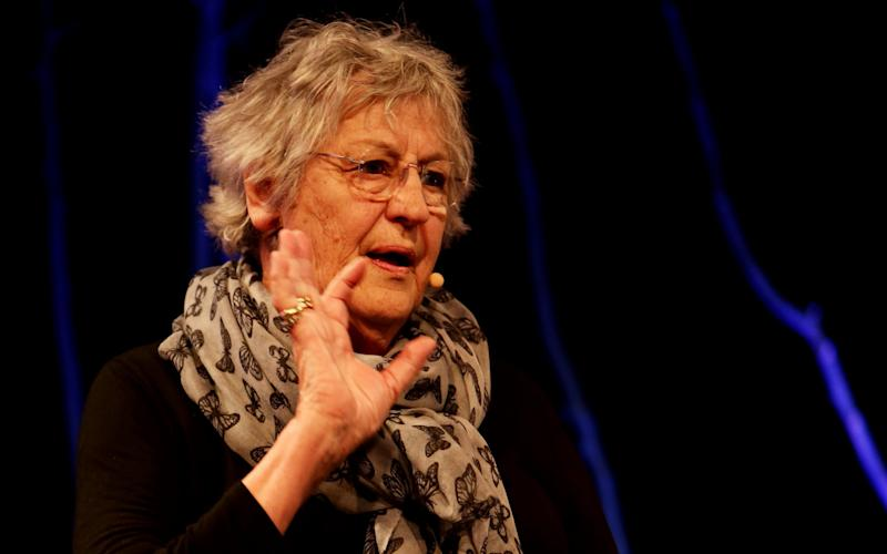 Germaine Greer has been banned from speaking on university campuses after her comments on transgender people were deemed offensive  - Credit: Clara Molden for The Telegraph