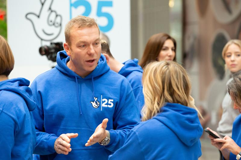 Sir Chris Hoy in Stratford