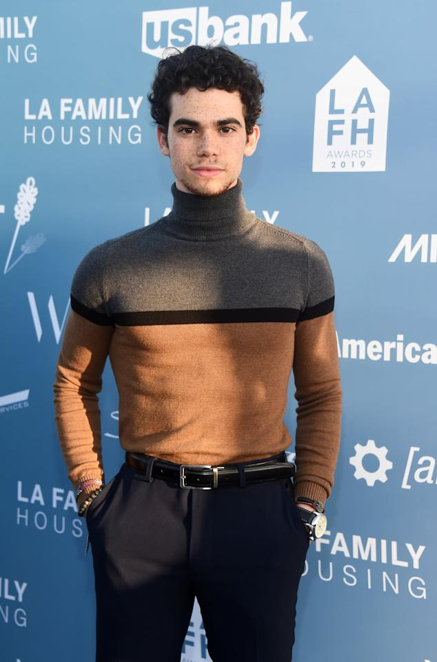 """<p>The <a href=""""https://www.popsugar.com/celebrity/Cameron-Boyce-Dead-46349458"""" class=""""ga-track"""" data-ga-category=""""Related"""" data-ga-label=""""https://www.popsugar.com/celebrity/Cameron-Boyce-Dead-46349458"""" data-ga-action=""""In-Line Links"""">20-year-old actor died in July</a> after having <a href=""""https://abcnews.go.com/Entertainment/disney-channel-star-cameron-boyce-dies-20/story?id=64174031"""" target=""""_blank"""" class=""""ga-track"""" data-ga-category=""""Related"""" data-ga-label=""""https://abcnews.go.com/Entertainment/disney-channel-star-cameron-boyce-dies-20/story?id=64174031"""" data-ga-action=""""In-Line Links"""">a seizure in his sleep</a>. He was best known for his Disney roles as Luke Ross in the series <strong>Jessie</strong> and Carlos in the <a href=""""https://www.popsugar.com/latest/Descendants"""" class=""""ga-track"""" data-ga-category=""""Related"""" data-ga-label=""""https://www.popsugar.com/latest/Descendants"""" data-ga-action=""""In-Line Links""""><strong>Descendants</strong></a> movies. """"The world is now undoubtedly without one of its brightest lights, but his spirit will live on through the kindness and compassion of all who knew and loved him,"""" a spokesperson for his family said in a statement. """"We are utterly heartbroken and ask for privacy during this immensely difficult time as we grieve the loss of our precious son and brother.""""</p>"""