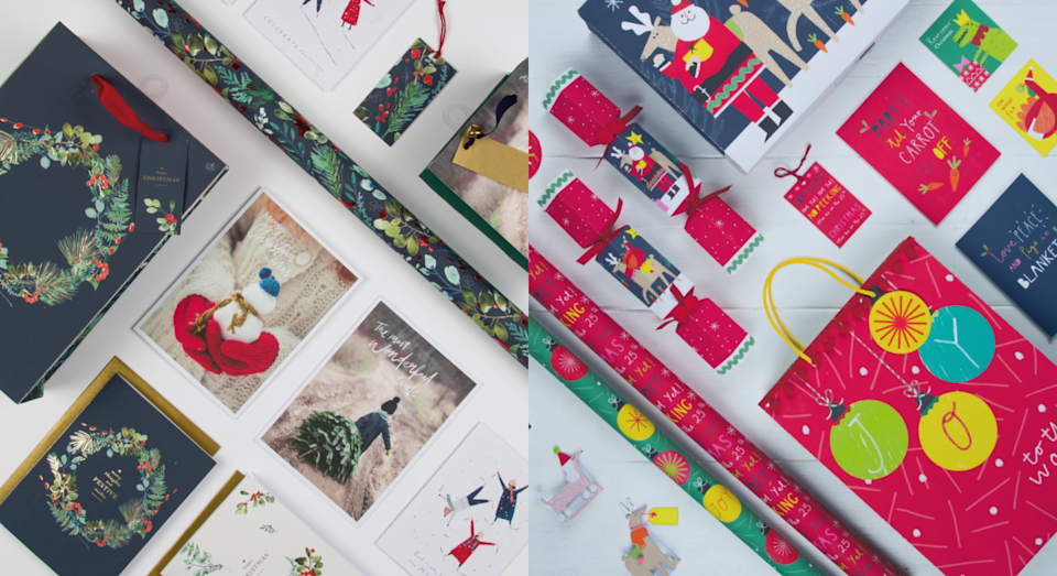 A look at some of the styles of eco-friendly wrapping available. [Photo: Marks and Spencer]
