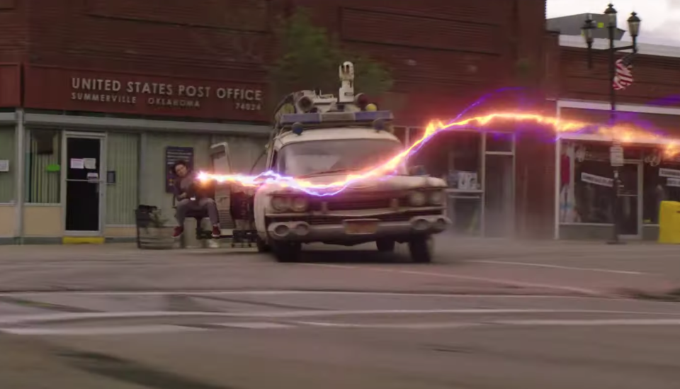 ECTO-1 is back on the road in <i>Ghostbusters: Afterlife</i> (Sony Pictures)