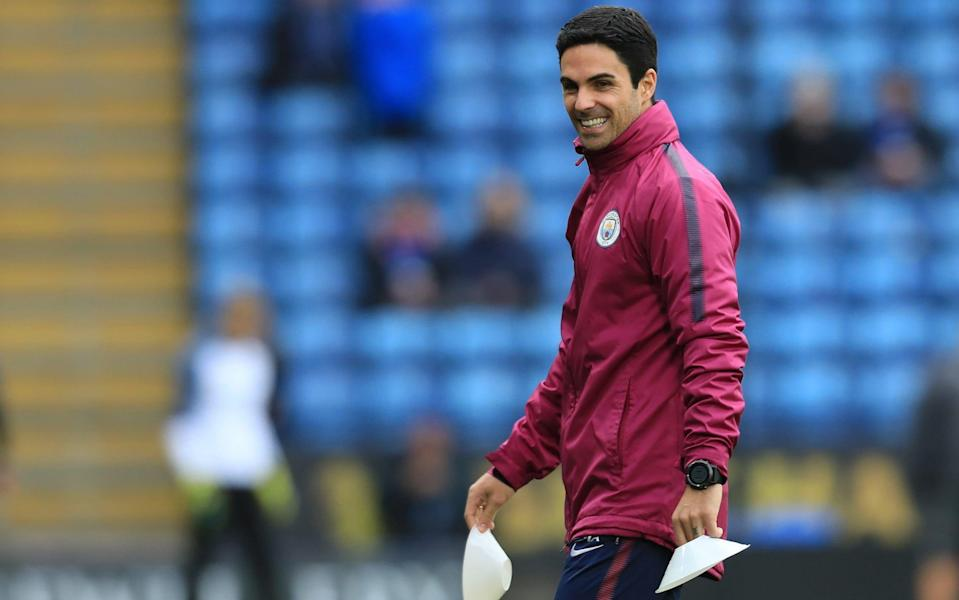 On his way: Mikel Arteta closing in on Arsenal job with Man City expecting his departure
