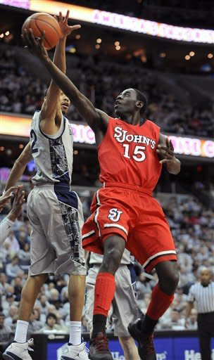 Lubick leads Georgetown past St. John's, 68-56