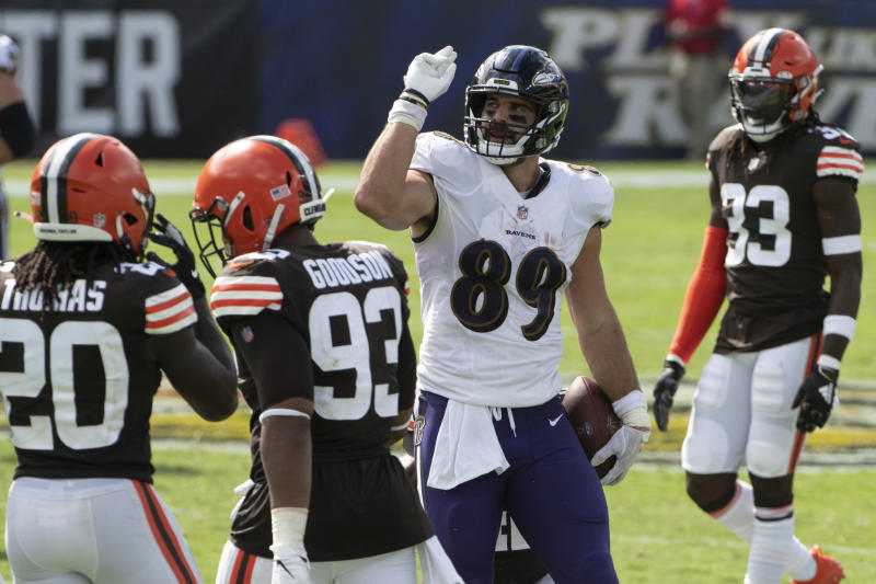 Texans seek to stop Ravens tight end Mark Andrews