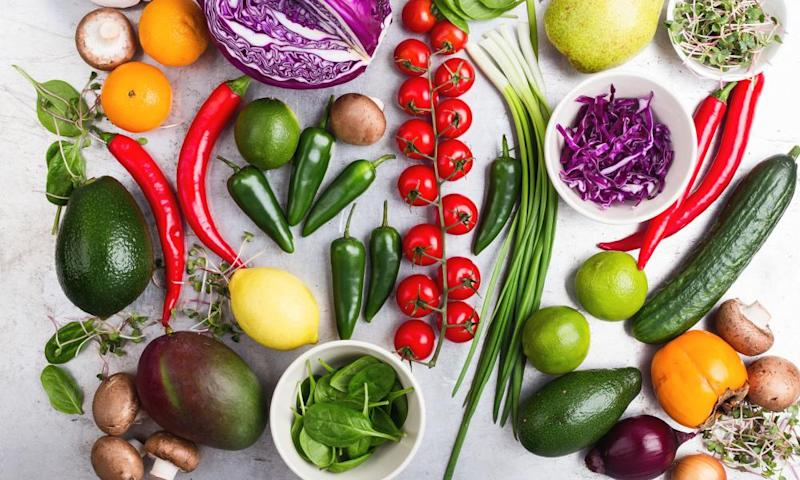 Improved wellbeing has been linked to the number of daily portions of fruit and vegetables.