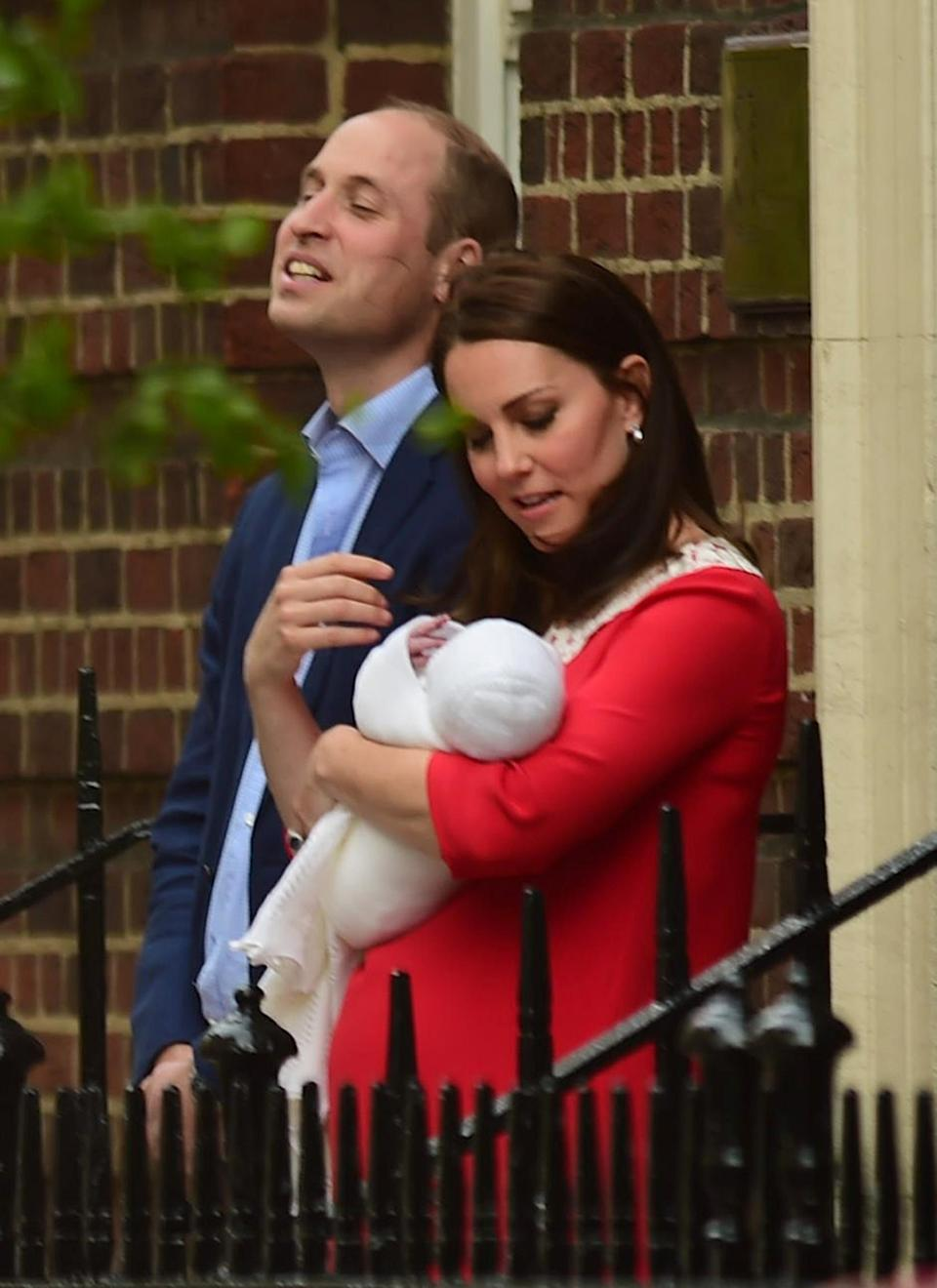 The Duke and Duchess of Cambridge and their newborn son outside the Lindo Wing at St Mary's Hospital in Paddington, London. (PA)