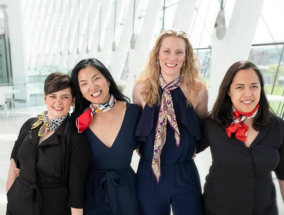 the Bach Aria Soloists are, from left, Sarah Tannehill Anderson, Elizabeth Suh Lane, Elisa Williams Bickers and Hannah Collins.