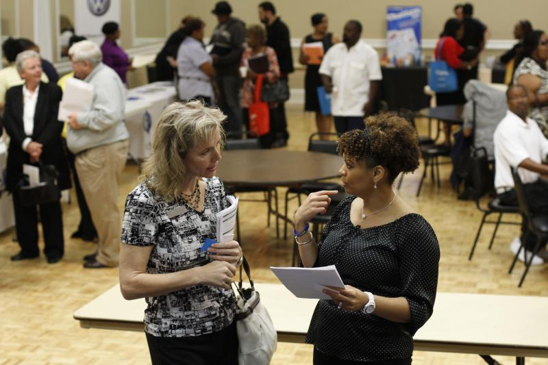 US economic reports hold out hope for hiring gains