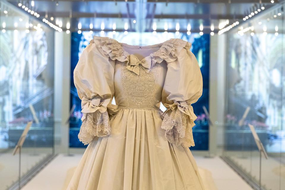 <p>The dress, designed by David Emmanuel, will be on display from Thursday</p> (Getty Images)