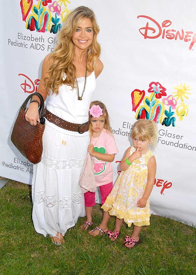 "Denise Richards arrives with her two daughters, Sam and Lola. Wonder if cameras from her new reality show were close behind and taping? Mark Sullivan/<a href=""http://www.wireimage.com"" target=""new"">WireImage.com</a> - June 8, 2008"