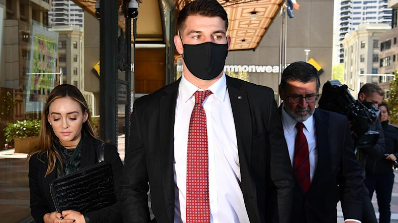 Curtis Scott, pictured here leaving the Downing Centre Court in Sydney.