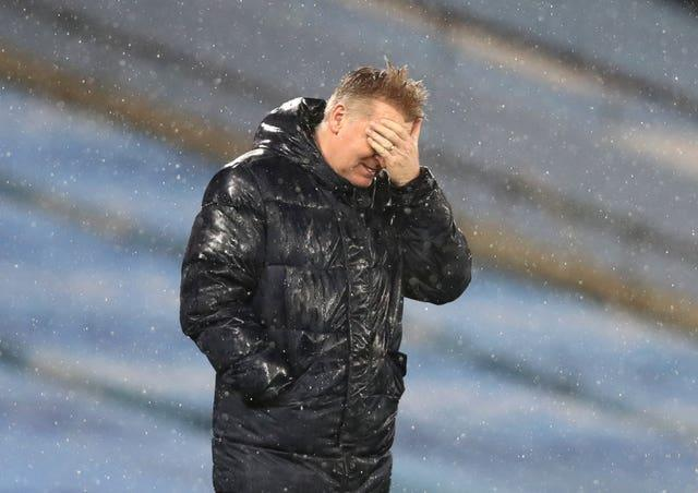 Dean Smith was fuming with decisions against his side