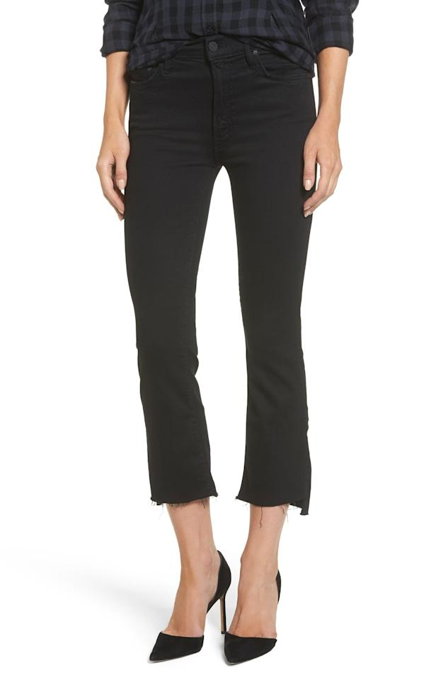 """<p>The frayed hem on these <a href=""""https://www.popsugar.com/buy/MOTHER-Insider-Crop-Jeans-492917?p_name=MOTHER%20The%20Insider%20Crop%20Jeans&retailer=shop.nordstrom.com&pid=492917&price=205&evar1=fab%3Aus&evar9=45615413&evar98=https%3A%2F%2Fwww.popsugar.com%2Ffashion%2Fphoto-gallery%2F45615413%2Fimage%2F46648580%2FMOTHER-Insider-Crop-Jeans&list1=shopping%2Cdenim%2Cjeans%2Cwinter%2Cwinter%20fashion&prop13=mobile&pdata=1"""" rel=""""nofollow"""" data-shoppable-link=""""1"""" target=""""_blank"""" class=""""ga-track"""" data-ga-category=""""Related"""" data-ga-label=""""https://shop.nordstrom.com/s/mother-the-insider-crop-jeans-not-guilty/4515768"""" data-ga-action=""""In-Line Links"""">MOTHER The Insider Crop Jeans</a> ($205) is perfect.</p>"""
