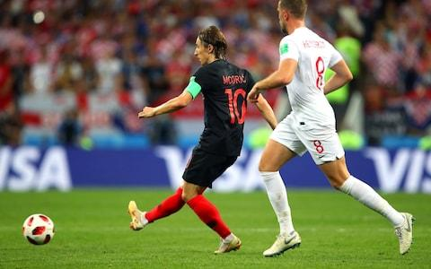 Luke Modric in action - Credit:  getty images