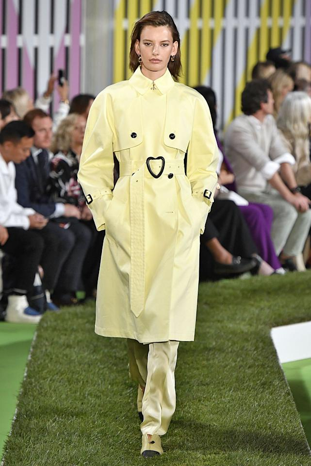 "<p>Pantone's color choice for 2019 might be living coral, but butter yellow (as I call it) is a close second in popularity. The hue popped up on the<a href=""https://www.marieclaire.com/fashion/g23115590/spring-2019-fashion-trends/"" target=""_blank""> spring '19 runways</a> of Escada (left), Rodarte, and Tibi, meaning the soft shade is everywhere this season. Pick up a yellow dress or two right just in time for summer. </p>"