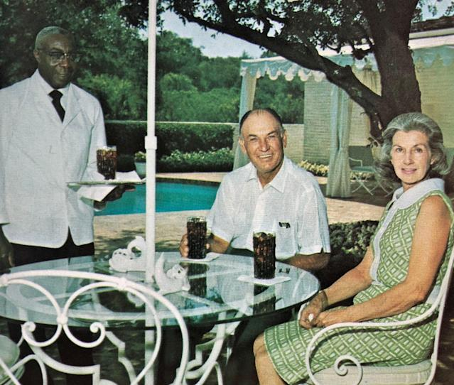 "<div class=""caption""> Hogan at home in Fort Worth with his wife Valerie. The photos of Hogan at home were captured by Al Panzera. </div>"