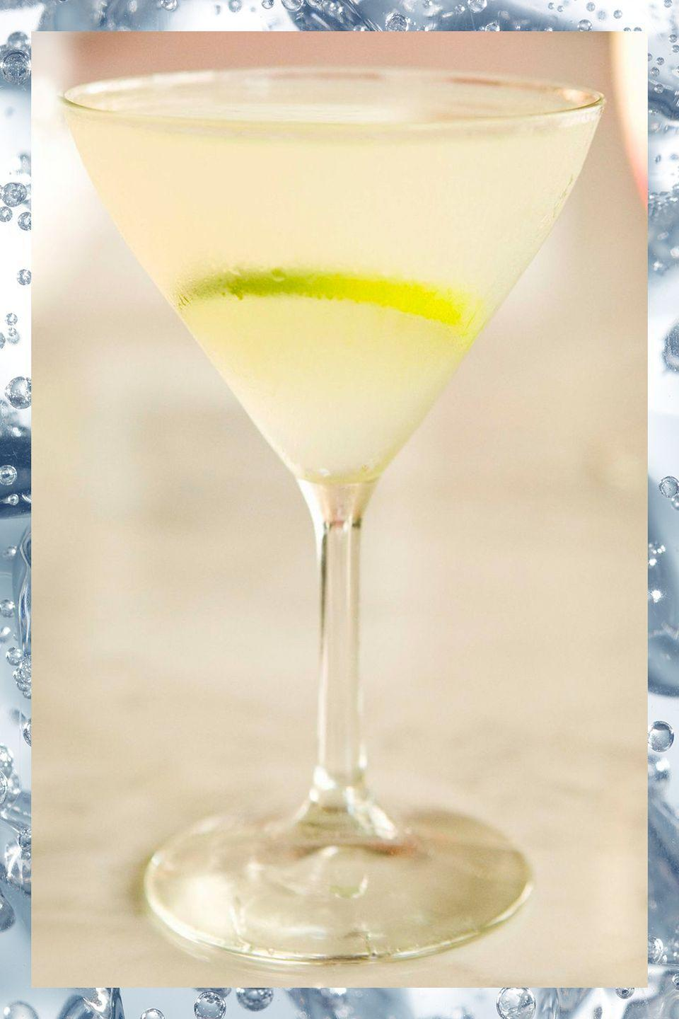 <p>The classic recipe calls for gin, but this drink is just as tasty if you substitute vodka instead.</p><p>- 2 oz gin or vodka<br>- .75 oz simple syrup<br>- .75 oz lime juice</p><p><em>Shake ingredients with ice and strain into cocktail glass.</em></p>
