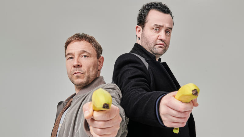 Stephen Graham and Daniel Mays are cop partners in 'Code 404'. (Credit: Andrea Southam/Sky)