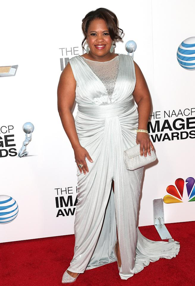 LOS ANGELES, CA - FEBRUARY 01:  Actress Chandra Wilson attends the 44th NAACP Image Awards at The Shrine Auditorium on February 1, 2013 in Los Angeles, California.  (Photo by Frederick M. Brown/Getty Images for NAACP Image Awards)