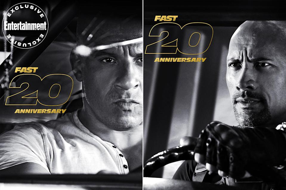 """<p><em>Fast & Furious</em> is officially 20, with Tuesday marking the anniversary of the 2001 release of <em>The Fast and the Furious </em>(<a href=""""https://ew.com/movies/the-fast-and-the-furious-oral-history/"""" rel=""""nofollow noopener"""" target=""""_blank"""" data-ylk=""""slk:read EW's oral history of the film"""" class=""""link rapid-noclick-resp"""">read EW's oral history of the film</a>)<em>. </em>The past two decades of the franchise have included nine films, one spin-off, and more than $6 billion at the box office. """"I don't reflect enough,"""" <a href=""""https://ew.com/tag/vin-diesel/"""" rel=""""nofollow noopener"""" target=""""_blank"""" data-ylk=""""slk:Vin Diesel"""" class=""""link rapid-noclick-resp"""">Vin Diesel</a> told EW in its <a href=""""https://ew.com/movies/f9-vin-diesel-john-cena-digital-cover/"""" rel=""""nofollow noopener"""" target=""""_blank"""" data-ylk=""""slk:Fast digital cover story"""" class=""""link rapid-noclick-resp""""><em>Fast</em> digital cover story</a>. """"For some reason, I believe in order to pull this off I need to apply all my energy into pushing [<em>Fast</em>] up the hill. And maybe that's not the best route, and I should take a minute and reflect on how far we've come.""""</p> <p>Let's now take a quarter mile to click through - and reflect on - these exclusive anniversary posters.</p>"""