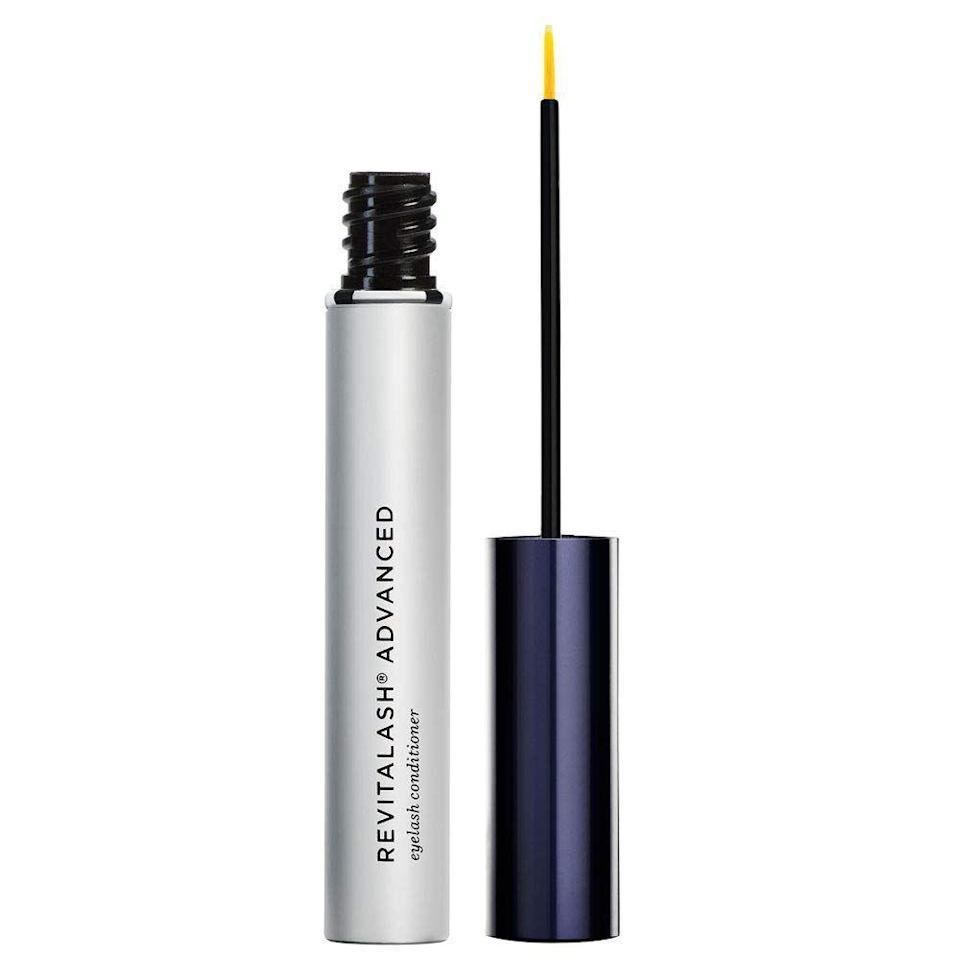 """<p><strong>RevitaLash Cosmetics</strong></p><p>amazon.com</p><p><strong>$98.00</strong></p><p><a href=""""https://www.amazon.com/dp/B005CVGJFM?tag=syn-yahoo-20&ascsubtag=%5Bartid%7C10049.g.33904719%5Bsrc%7Cyahoo-us"""" rel=""""nofollow noopener"""" target=""""_blank"""" data-ylk=""""slk:shop"""" class=""""link rapid-noclick-resp"""">shop</a></p><p>If you close your eyes at night and dream of luscious lashes, swipe this <a href=""""https://www.cosmopolitan.com/style-beauty/beauty/g21685030/best-eyelash-serums/"""" rel=""""nofollow noopener"""" target=""""_blank"""" data-ylk=""""slk:lash serum"""" class=""""link rapid-noclick-resp"""">lash serum</a> on before you do. With ingredients like peptides, lipids, and <a href=""""https://www.cosmopolitan.com/style-beauty/beauty/a32596863/biotin-for-hair-growth-loss/"""" rel=""""nofollow noopener"""" target=""""_blank"""" data-ylk=""""slk:biotin"""" class=""""link rapid-noclick-resp"""">biotin</a>, this formula will condition and enhance your little lash hairs.</p>"""