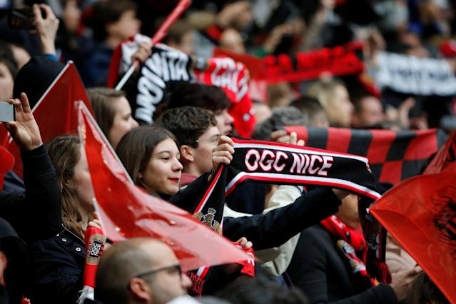 Soccer Football - Ligue 1 - OGC Nice vs Paris St Germain - Allianz Riviera, Nice, France - March 18, 2018 Nice fans before the match REUTERS/Jean-Paul Pelissier