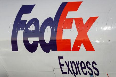 FILE PHOTO: FedEx Express Boeing 737-45D (BDSF) OO-TNN aircraft is seen at the Chopin International Airport in Warsaw