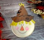 """<p>Even the littlest crafters can probably handle making this paper-plate scarecrow. The plastic spider really puts him over-the-top.</p><p><em><a href=""""https://www.thekeeperofthecheerios.com/2018/08/paper-plate-scarecrow.html"""" rel=""""nofollow noopener"""" target=""""_blank"""" data-ylk=""""slk:Get the tutorial at The Keeper of the Cheerios »"""" class=""""link rapid-noclick-resp"""">Get the tutorial at The Keeper of the Cheerios »</a></em></p>"""