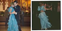 <p>The married couple of two years embarked on a tour of Australia in 1963, where they danced together at a gala event in Sydney for which Diana wore a blue ruffle dress by Bruce Oldfield.</p>