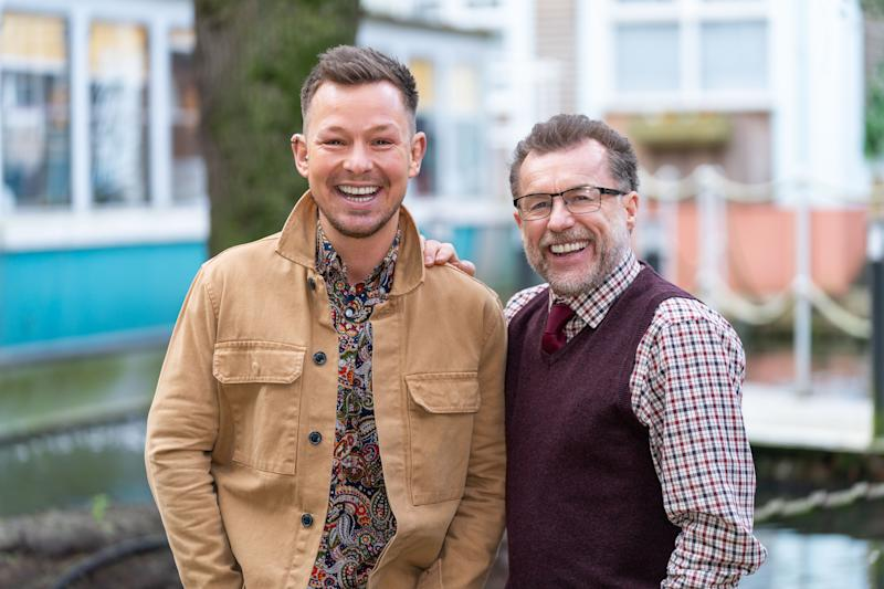 Former 'Corrie' stars Adam Rickitt and Chris Quinten will play father and son in 'Hollyoaks' (Lime Pictures)