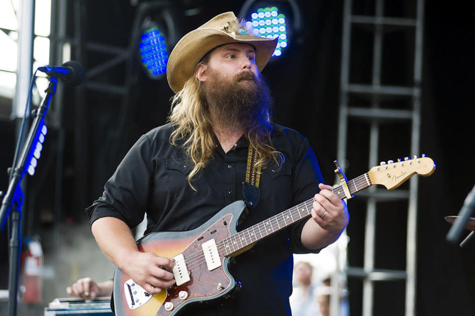 <p>Stapleton's first solo album, <i>Traveller</i>, received an Album of the Year nomination. The album, though widely admired, was just a modest seller until Nov. 4, when it won big at the CMA Awards and subsequently shot to #1. The album was also nominated for Best Country Album.</p><p>Credit: Timothy Hiatt/WireImage</p>