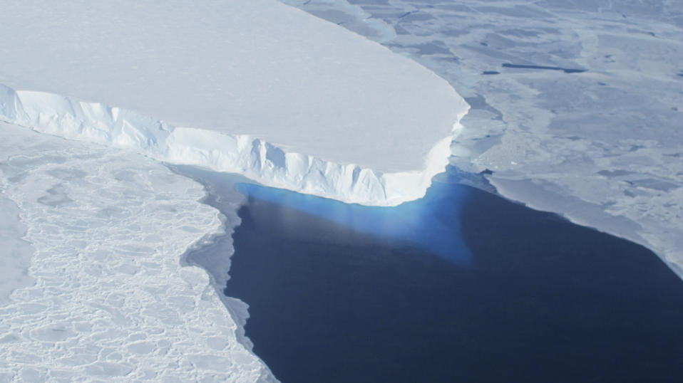 The Thwaites Glacier in Antarctica is seen in this undated NASA image. (NASA handout via Reuters)