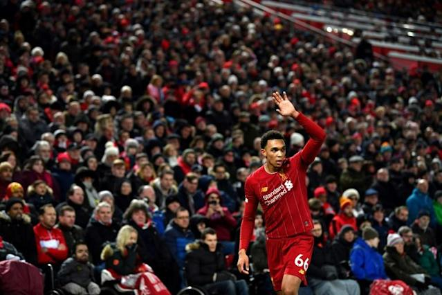 Local hero Trent Alexander-Arnold hasn't forgotten his north Liverpool roots despite football fame and fortune (AFP Photo/Paul ELLIS)