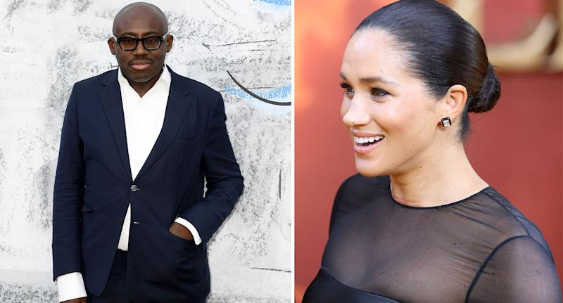 Edward Enninful and the Duchess of Sussex began working on the September issue of British Vogue in January. [Photos: Getty]