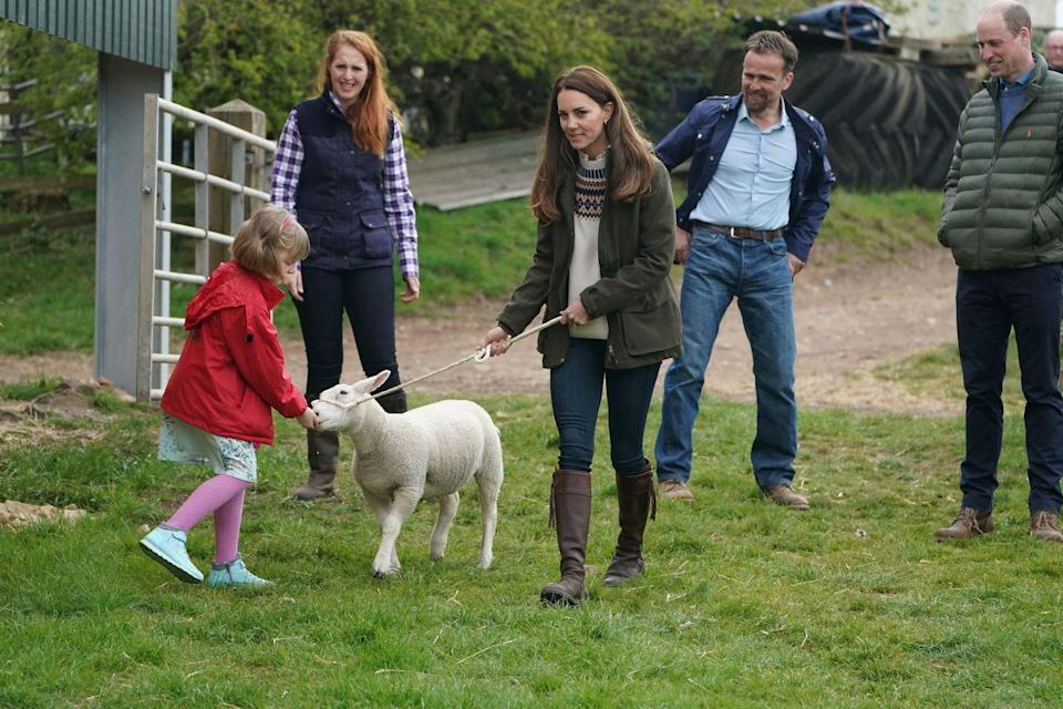 <p>There they visited with farmer Stewart Chapman, his wife Clare Wise, and their daughter Clover, 9. </p>