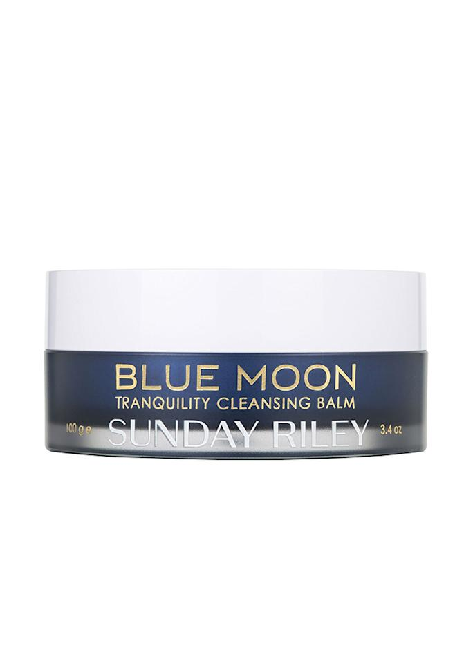 """This coddling cleansing balm is packed with hydrators like squalene, essential oils, and blue tansy to moisturize while it removes makeup.  SUNDAY RILEY Blue Moon Tranquility Cleansing Balm; $50; at <a rel=""""nofollow"""" href=""""https://www.birchbox.com/shop/sunday-riley-blue-moon-tranquility-cleansing-balm"""" rel="""""""">Birchbox</a>"""