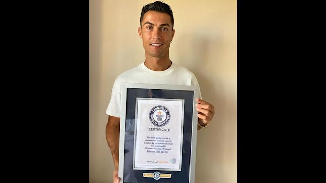 Cristiano Ronaldo Makes Guinness World Record With Most Goals in  International Football, Poses With Certificate (View Pic)