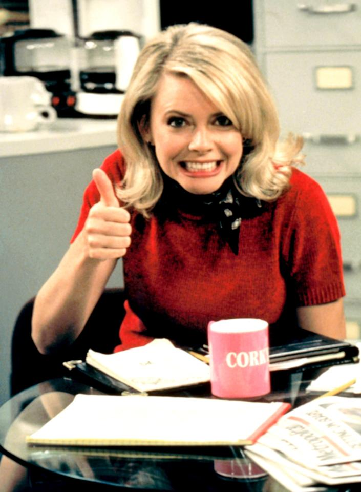 "<b>Faith Ford</b> as Corky Sherwood, ""Murphy Brown"" (1988-1998)<br><br>Outstanding Supporting Actress in a Comedy Series<br><br>0 wins, 5 nonconsecutive nominations (1989-1994)"