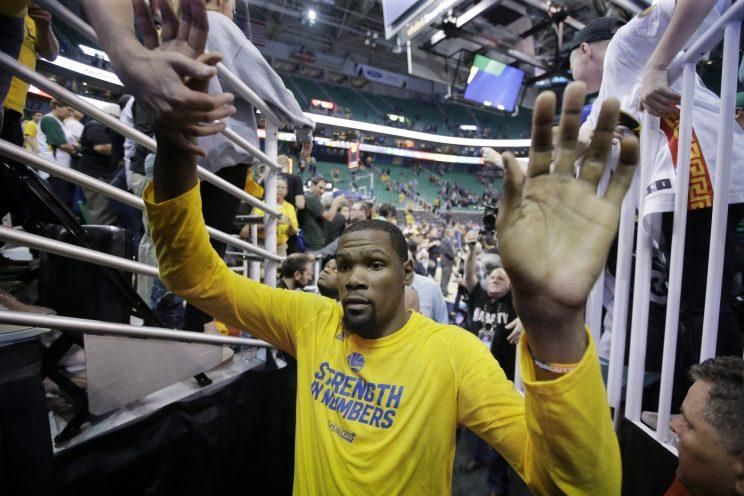 To nobody's surprise, the arrival of Kevin Durant in Golden State has made the Warriors even more lethal. (AP)