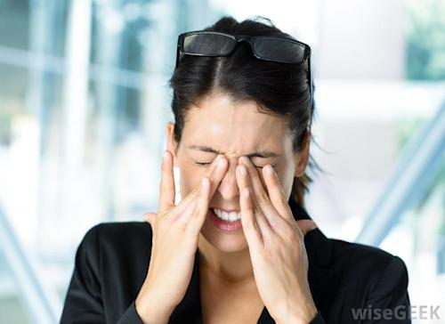 Prolonged usage of the computer can lead to eye strain and headaches. Credit: wisegeek.com